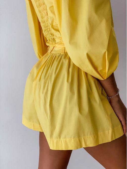 Shorts-Tricoline-Karla-Amarelo