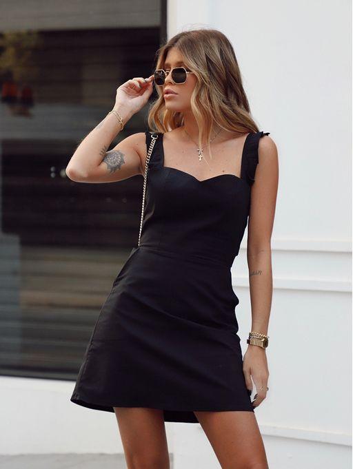 Vestido-Marjory-Preto-Com-Alca-Tricoline