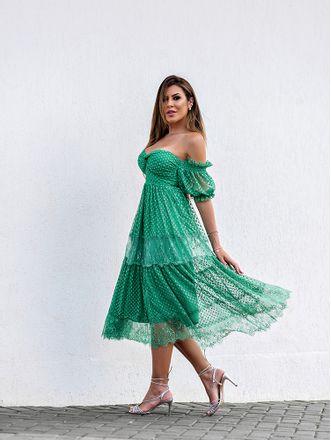Vestido-Midi-Tule-Poa-Com-Renda-Verde