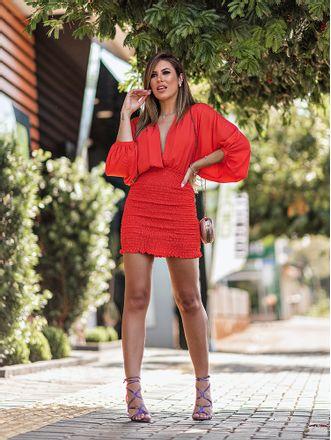 Vestido-Zahara-Laranja-Crepe-Lastex