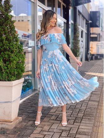 Vestido-Tule-Floral-Azul-Ombro-A-Ombro