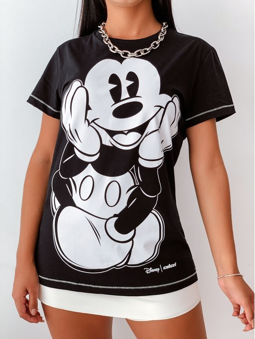 Camiseta-Estampada-Mickey-Colcci-Black