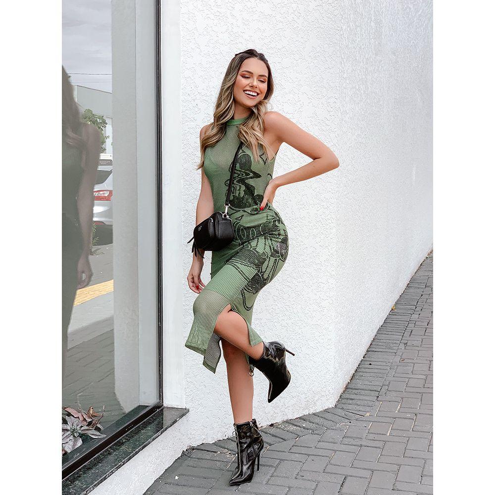 Vestido-Midi-Estampado-Colcci-Verde