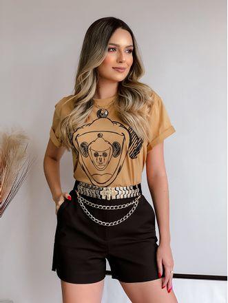 Camiseta-Estampada-Marrom-Colcci