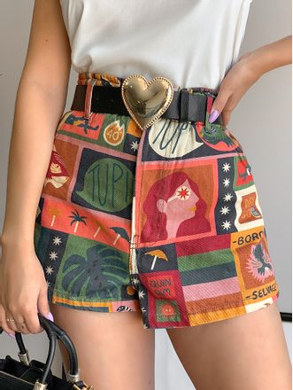 Shorts-Sarja-Colagem-Animal-Farm
