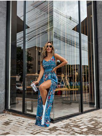 Vestido-Flavia-Azul-Floral-Fenda