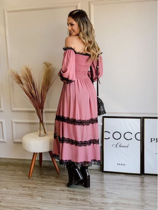 Vestido-Ramona-Rose-Crepe-Renda-Chantilly