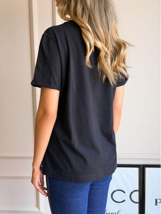T-Shirt-Carol-Basic-Black-Animale