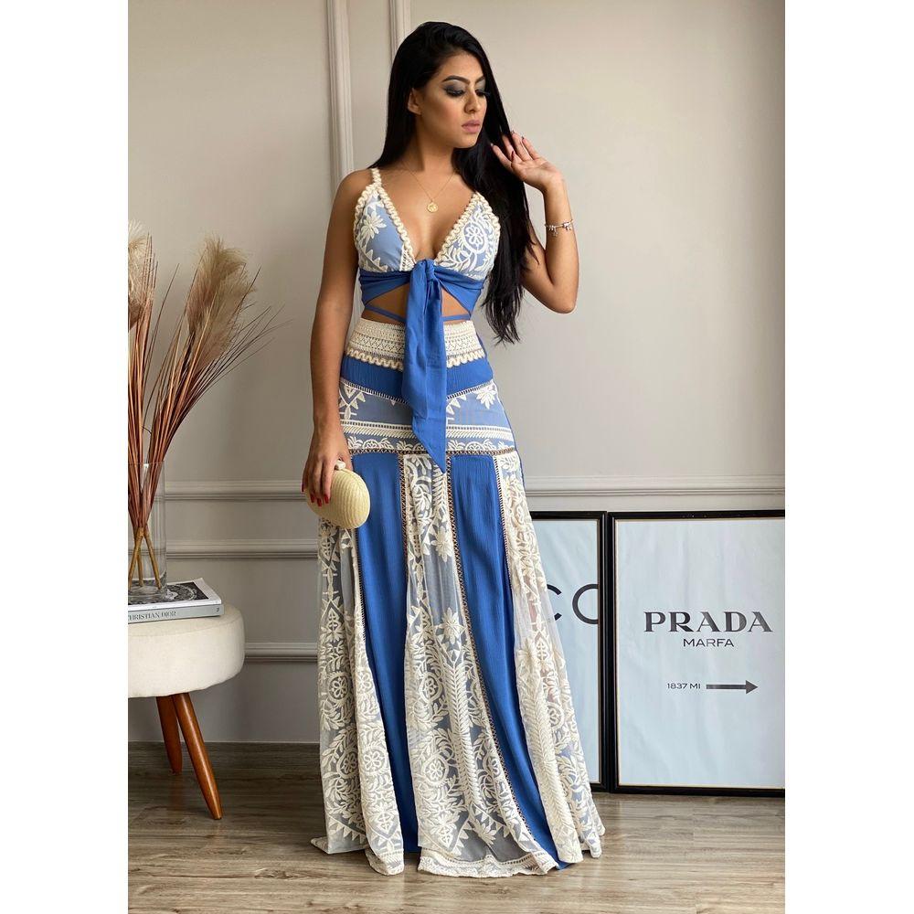 Saia-Longa-De-Crepe-Fatima-Azul