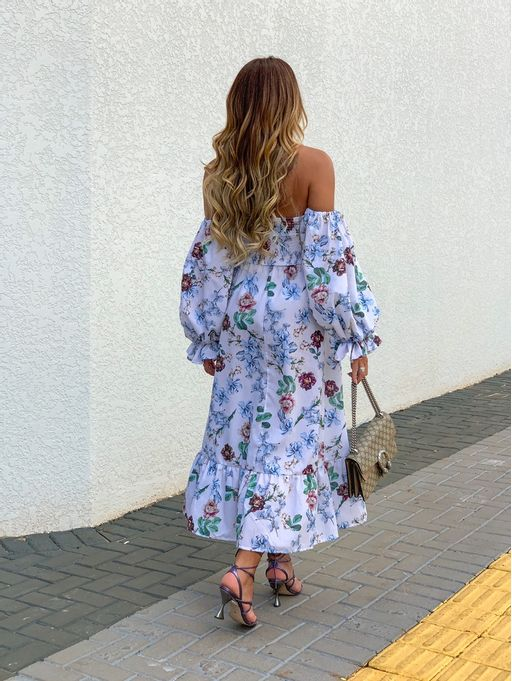 Vestido-Midi-Tricoline-Floral-Lastex