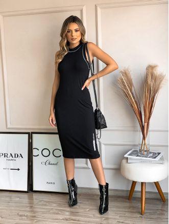 Vestido-Midi-Canelado-Esther-Black-Colcci