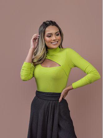 Blusa-Devilyn-Verde-Neon-Recorte-Na-Frente