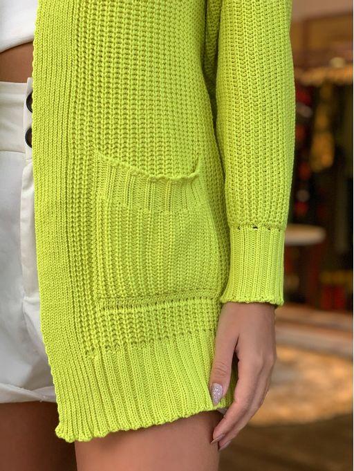 Casaco-Tricot-Ponto-Fangue-Amarelo-Neon-Vanessa