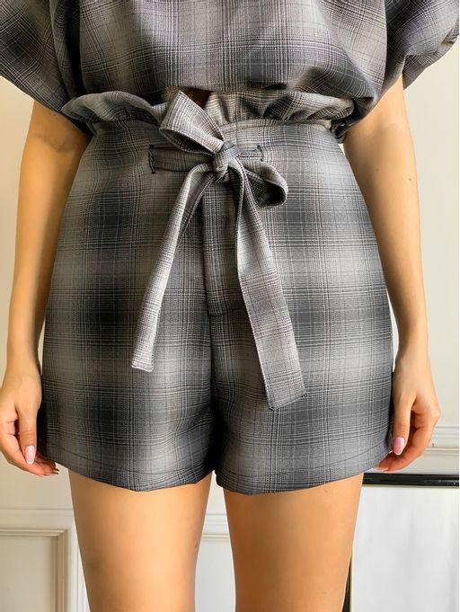 Shorts-Xadrez-Clochard-Colcci