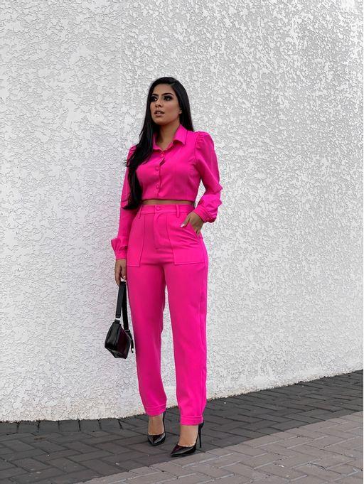 Conjunto-Jaqueta-Balmain-Pink