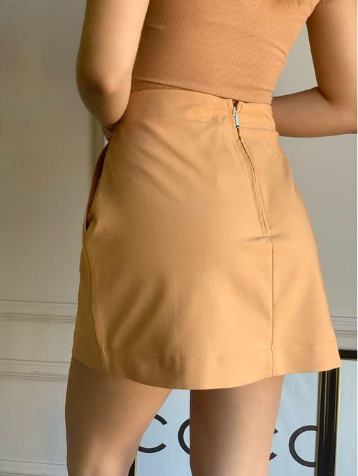 Shorts-Saia-Basico-Vivian-Bege