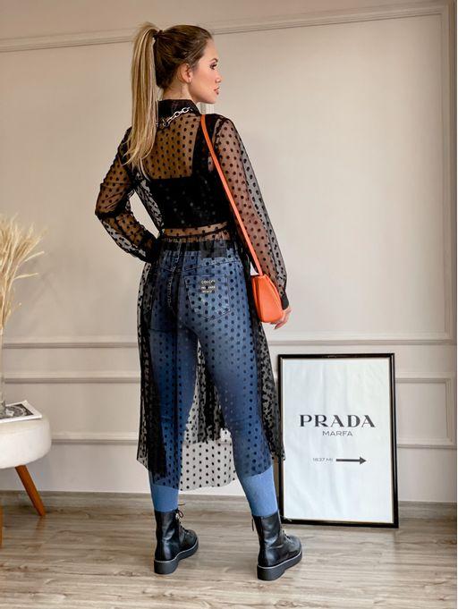 Camisa-Alongada-Laysla-Preta