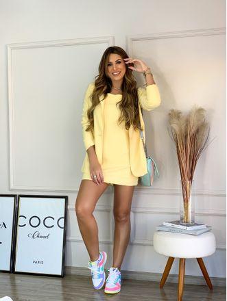 Blazer Larissa Manteiga Amarelo