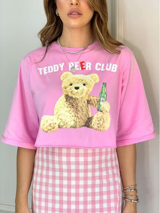T-Shirt-Cropped-Teddy-Beer-Club