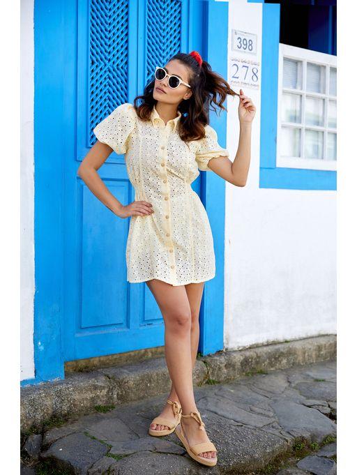 Camisa-Dress-Paolla-Amarelo