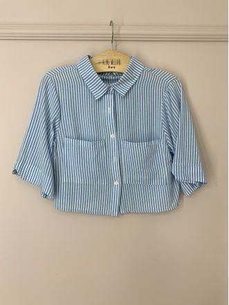 Camisa-Cropped-Listrado-Azul-Sophia