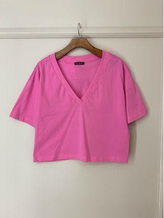 T-Shirt-Over-Decote-V-Ribana-Jessy-Rosa