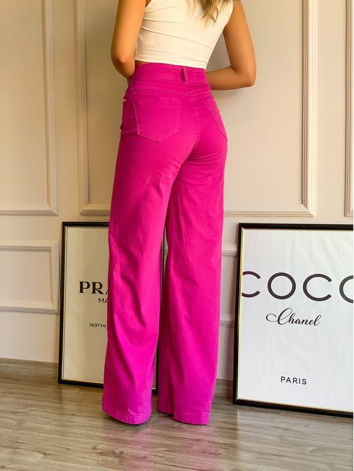 Calca-Sarja-Flare-Rosa-Pink-Sunset-Carina
