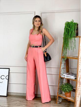 Calca-Georgia-Rose-Wide-Leg-Aline-Mezari-Brand