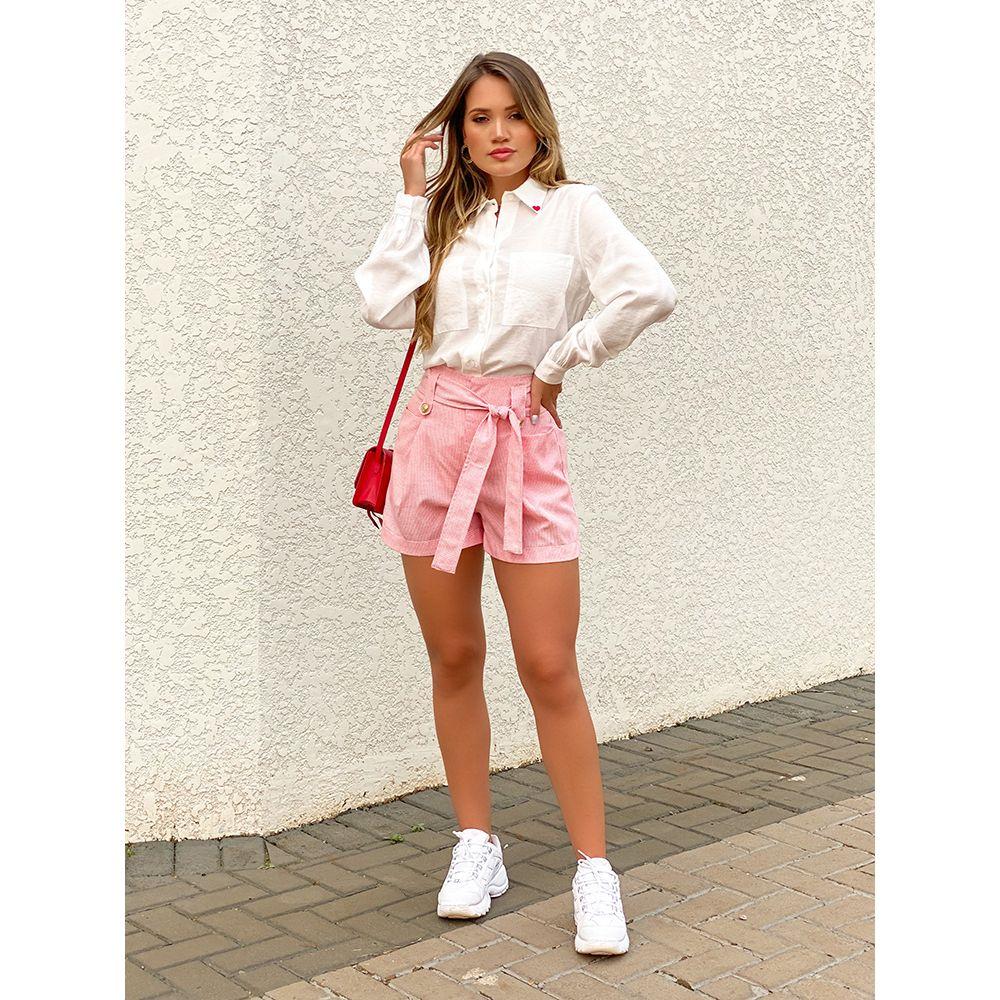 Shorts-Milla-Xadrez-Vermelho-Aline-Mezzari-Brand