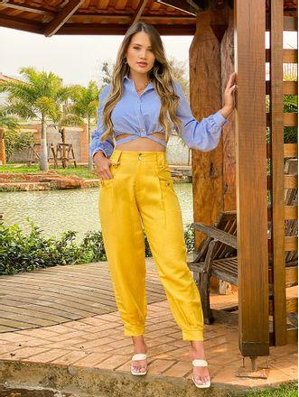 Camisa-Cropped-Hailey-Azul-Aline-Mezzari-Brand