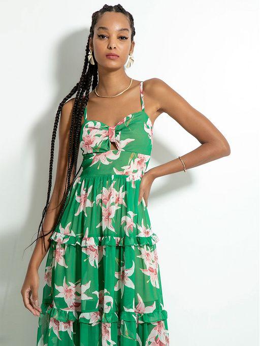 Vestido-Longo-Verde-Floral-Lily