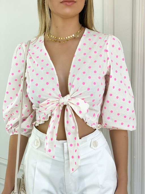 Blusa-Cropped-Pink-Polka-Myft