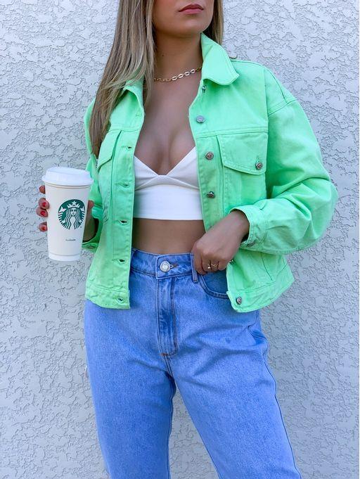 Jaqueta-Jeans-Trucker-Media-Verde-Menta-Myft
