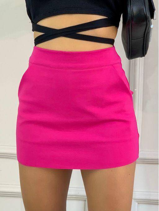 Saia-Shorts-Ami-Roma-Pink