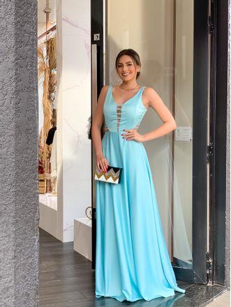 Vestido-Regata-Longo-Tirinhas-No-Decote-Liso-Azul