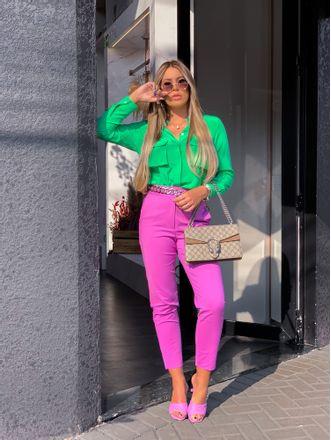 Camisa-De-Seda-Bolsos-Flash-Verde-Animale