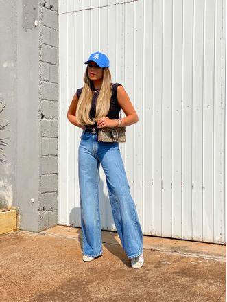 Calca-Jeans-Pantalona-Vintage-Animale