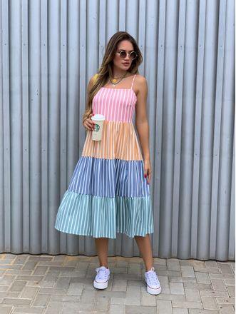 Vestido-Listrado-4-Cores-Kaylee