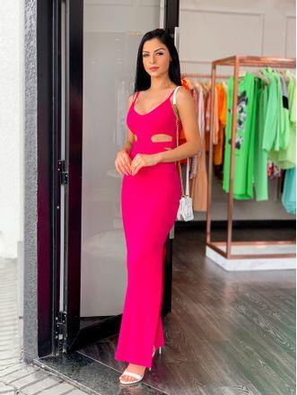 Vestido-Allure-Longo-Canelado-Pink